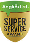 Tidewater Roofing is awarded by Angies list with the Super Service Award